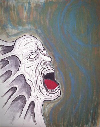 The Agony. Original artwork by Sean Lindholm. Original Originalwork Original Art Art Artist Acrylic Acrylic Painting Agony Pain Paint Painting Losangeles California Love Life