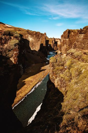 Canyon Earthpix Awesome_nature_shots Earth_Collections Canyon Icelandic Nature Iceland Sky Nature Sunlight Land No People Day Tranquility Beauty In Nature Outdoors Landscape