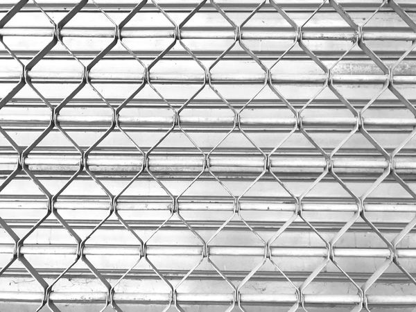 Door Steel Metal Chainlink Fence Security Backgrounds Pattern Full Frame Repetition No People Protection Day Outdoors Close-up Texture