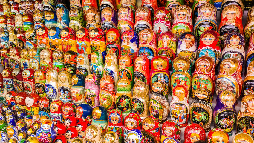 Souvenir Souvenir Market Matryoshka Matryoshka Doll Babushka Dolls Russian Dolls Russia Moscow Multi Colored Tourism Variation Large Group Of Objects Travel Travel Destinations No People Day Close-up