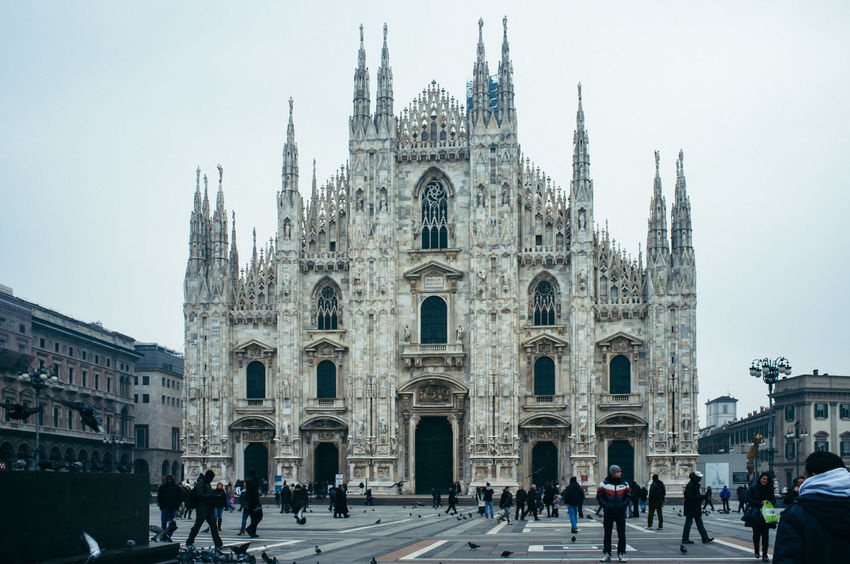 Milano Architecture Blue Building Exterior Built Structure City Cityscapes Duomo Di Milano Famous Place Historical Building History International Landmark Italy Milan Milano Monuments People Place Of Worship Religion Spirituality Square