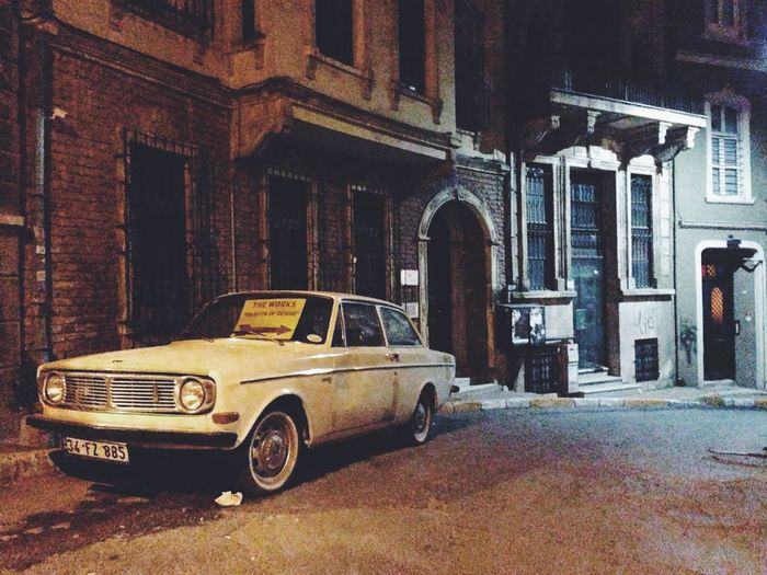 Abandoned Architecture Building Building Exterior Built Structure Car City Classic Car Day Istanbul Land Vehicle Mode Of Transport Night No People Outdoors Parked Parking Residential Building Road Stationary Street Sympathizing Transportation Travel Turkey