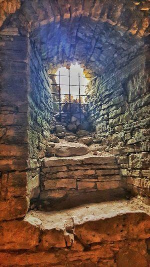 Muhu Island Estonia Window Castle Undergraund Building Underground Castle Underground