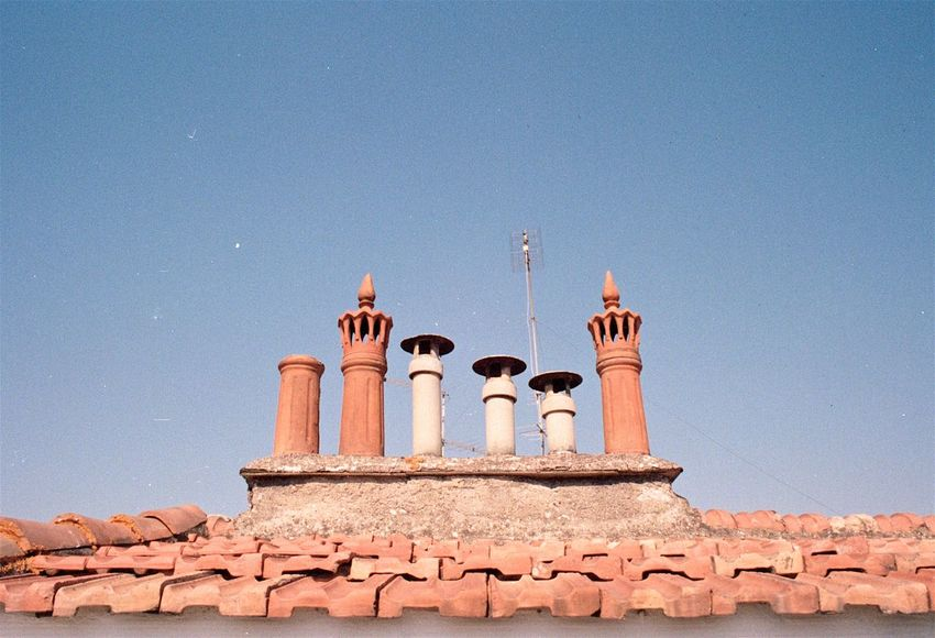 Analogue Photography Architectural Detail Architecture Architecture Building Building Details Building Exterior Built Structure Chimney Cityscape Day Details Film Film Photography Italy Low Angle View No People Outdoors Rome Rooftop Rooftops Shingles Sky