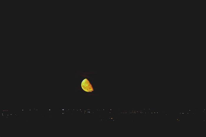 Night Moon Outdoors No People Sky Astronomy Moonrise City Summer Falling Stars