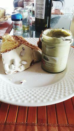 Colomba pasquale con pistacchi con crema di pistacchi di Bronte. Adesso posso anche morire. Food Pornfood