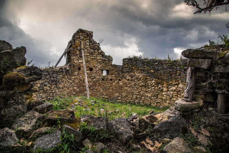 Kuelep ruins. Cloud - Sky Architecture Sky History Built Structure The Past Old Ruin Nature Old Ancient Building Building Exterior Ruined Damaged No People Solid Ancient Civilization Day Plant Low Angle View Stone Wall Outdoors Deterioration Archaeology