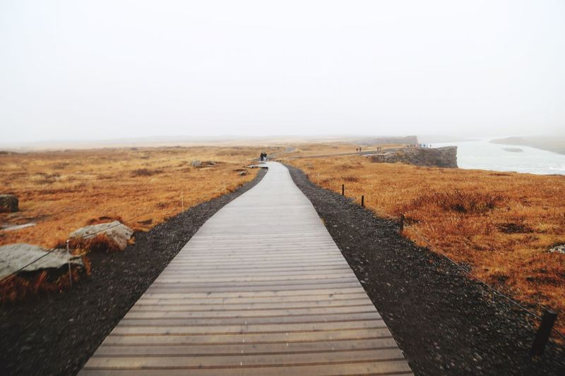 The Way Forward Copy Space Clear Sky No People Landscape Outdoors Day Nature Sky Beauty In Nature Iceland