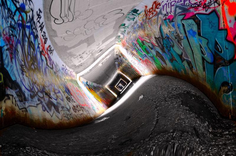 Old photo new spin EyeEm EyeEmBestPics Eye4photography  EyeEm Best Shots Rockford Il Urban City 35mm Nikon Graffiti Tunnel Leading Lines Culture