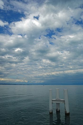 Cloud - Sky Water Sky Tranquility Tranquil Scene Scenics Nature Beauty In Nature Horizon Over Water No People Day Outdoors Lac Léman Genfersee Landscape Yvoire Yvoire, France Landscape_Collection Landscape_photography EyeEm Best Shots - Landscape Travel Destinations