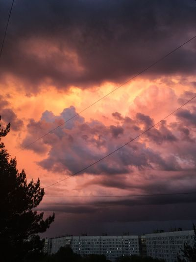 🌩🌩🌩 #skies #sky #weather #cloudporn #cloud #clouds  Cloud - Sky Sunset Sky Beauty In Nature Scenics - Nature Nature Orange Color