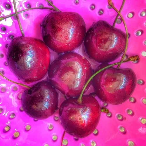 Cherries🍒 Healthy Eating Fruit Food And Drink Food Freshness Red Close-up No People Healthy Lifestyle High Angle View Variation Vitamin Indoors  Agriculture Day Nature