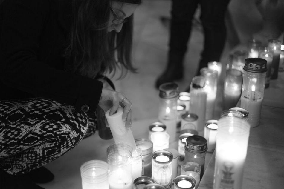 Azores Candles Church Close-up Fátima Indoors  Light One Person Peregrinos Povoação Religion