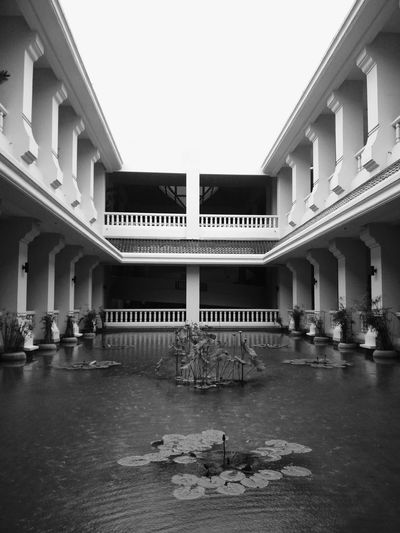 grey scale symetry #lines #vertical #White #pond #INDOOR #watetplants #LILLY #symetry #Construction #Asian Travel Photography Cityscape Politics And Government Architectural Column City Architecture Built Structure Building Exterior
