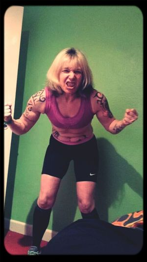 Raceface Messingabout Mental Girlswithabs girlswithtattoos #guns