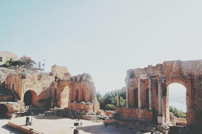 Italian Summer: Taormina - Teatro Greco Sicily Architecture Vscocam Travel Photography