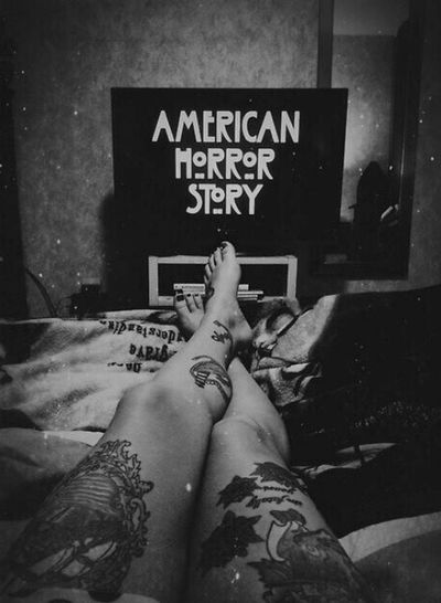 Américain horror story Soft Grunge All Monsters Are Human Normal People Scare Me Tatouage Love Tumblr Girl Black And White