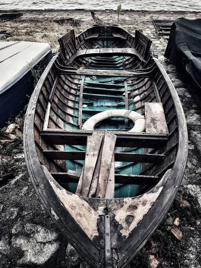 Old boat on