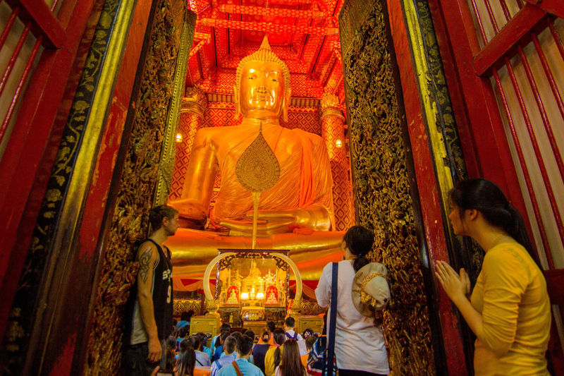 WatPhananChoengWorawihan Religion Statue Lord Buddha Gold Templephotography Unseenthailand Thailand Worshipping God