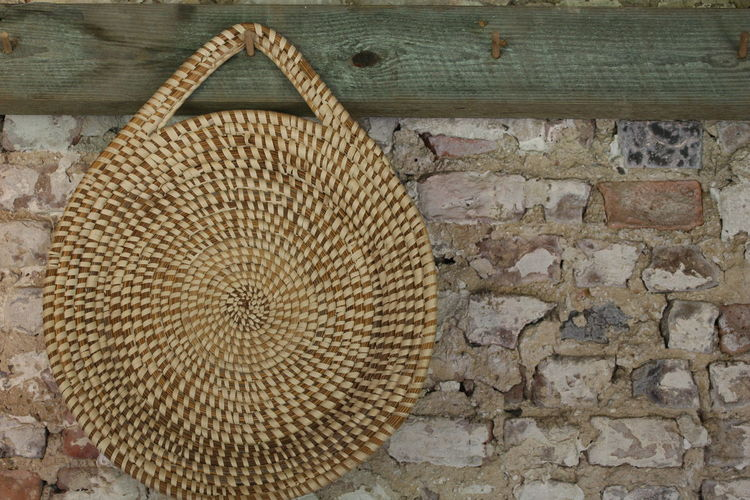 Basket Brick Wall Gullah Plantation South Carolina Textured  Weave Wood - Material