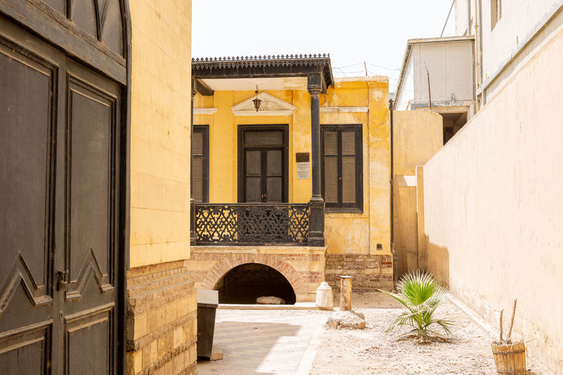 Building in backyard of ben-ezra synagogue in old city of cairo