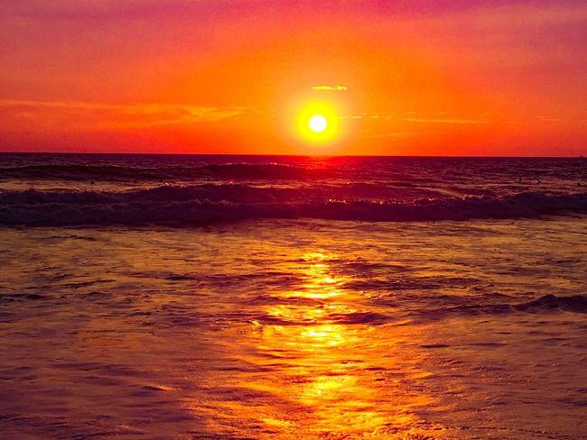Pura Vida Beach Playa Hermosa Costa Rica Pura Vida Sunset Sea Sun Beauty In Nature Scenics Nature Orange Color