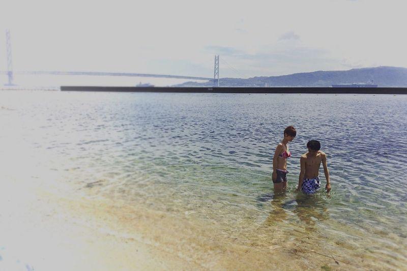 大倉海岸 明石海峡大橋 海 Ocean Beach Ocean Portrait