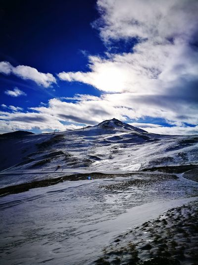 Snow Landscape Cloud - Sky Outdoors Winter Mountain Polar Climate Sky No People Day First Eyeem Photo