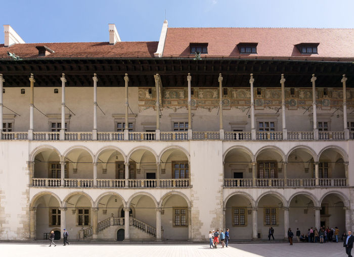 Wawel Castle Arch Arched Architecture Building Exterior Built Structure City Life Day Exterior Façade Outdoors Person Sky Vacations