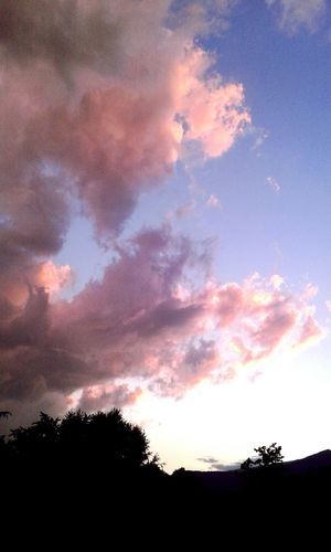 Sky Sky And Clouds Clouds Pink Pinkclouds Pinksky Evening Cielo Nuovole Cielo E Nuvole Rosa Nuvole Rosa Cielo Rosa Sera Colors Colori Bright Luce