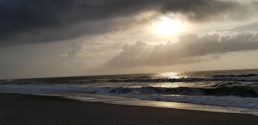 Good Morning Note 8 Note 8 Photography Wrightsville Beach NC Wrightsvillebeachnc Wrightsville Beach NC No People NoEditNoFilter Noedit NoEdits  Sunrise Sunrise_Collection Water Wave Sea Beach Sunset Sand Sunlight Summer Sun Tide Seascape Dramatic Sky Thunderstorm Storm Storm Cloud Coast Surf Moody Sky