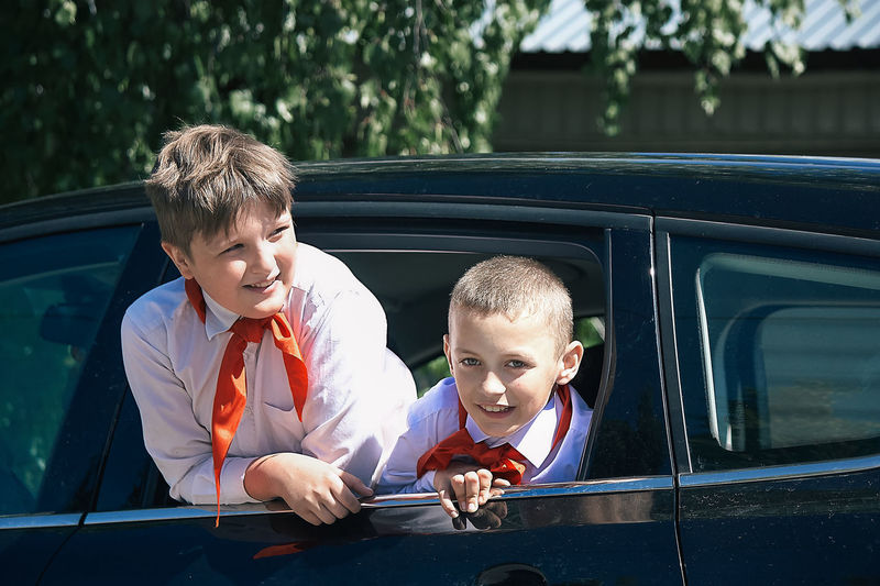 Bonding Boys Car Child Childhood Day Emotion Family Friendship Happiness Innocence Land Vehicle Males  Men Mode Of Transportation Motor Vehicle Outdoors Positive Emotion Real People Son Togetherness Transportation Two People