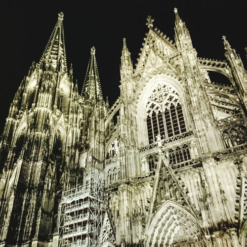 Kölner Dom Low Angle View Cathedral Cologne Cathedral History Gothic Style