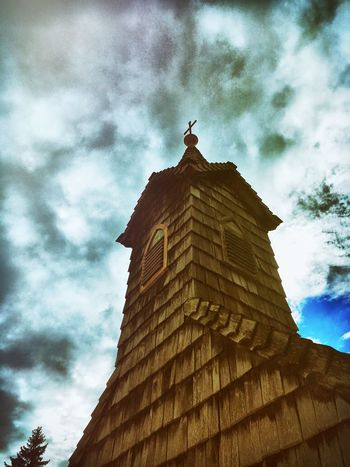 Low Angle View Architecture Built Structure Building Exterior Sky Cloud - Sky Spire  Cloud High Section Tall - High Outdoors Cloudy Day Place Of Worship Tall History Architectural Column No People Famous Place