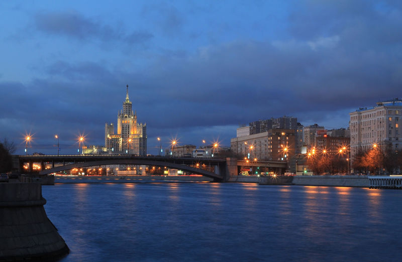 Evening in Moscow Stalin Skyscraper EyeEm Team Moscow River View Eye4photography  No People Urban Outdoors Outdoor Photography Travel Destinations Building Exterior Historical Building Nopeople City Cityscape Urban Skyline Illuminated Water Skyscraper Sunset Bridge - Man Made Structure Tower