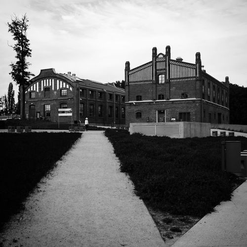 Carpentry Gallery and Center for Polish Scenography. Buildings are part of Silesian Museum. 2017 - #01. Black And White Silesia Eye4photography  EyeEm Selects EyeEm Best Shots Industrial Building  Industrial Pattern Geometric Shape Lines And Shapes Brick Building Brick Architectural Detail Built Structure Building Exterior Architecture