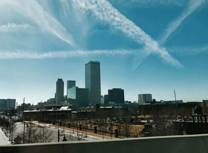 OKC Urban Skyline Skyscraper Cloud - Sky City Cityscape Architecture Building Exterior Sky Downtown District Air Pollution No People Outdoors Fumes Day Fog Okc Oklahoma Oklahomaphotography