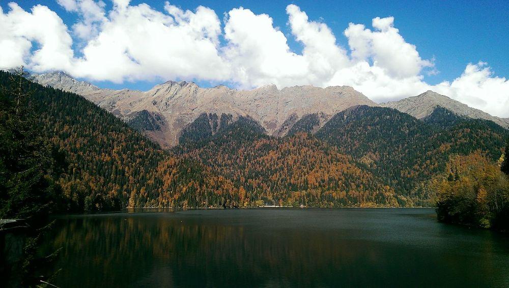 No Filter, No Edit, Just Photography Abkhazia Mountains Of Abkhazia Mountains And Sky Lake Autumn Autumn2014