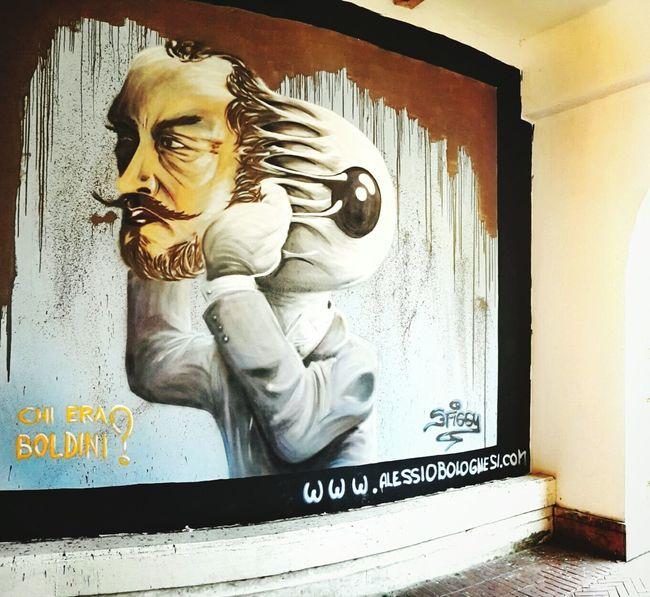Nice new graffiti at the Youth hostel in Ferrara Ferrara Ferrara- Italy Ferrara Boldini Graffiti Street Art Streetart YouthHostel