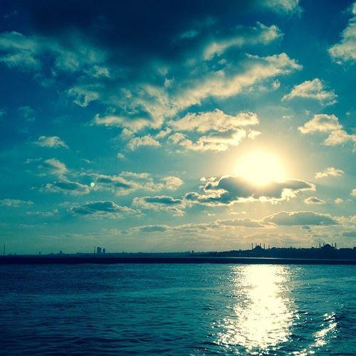 Stambuł Bosfor Wakacje Blue Sun Niebo Chmury Clouds Woda