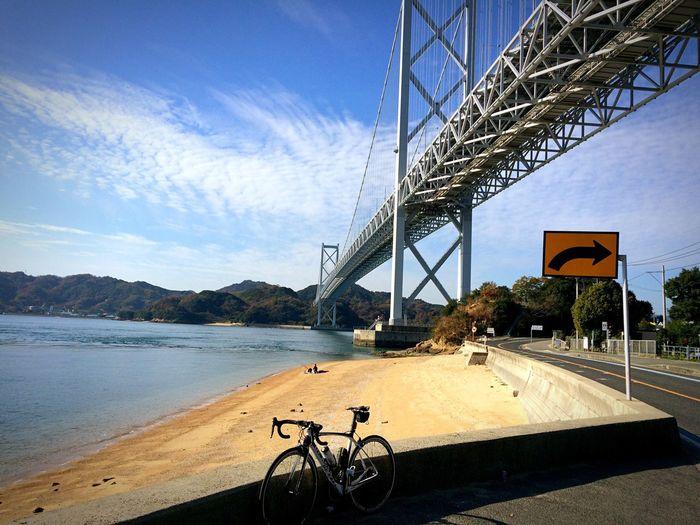 Enjoying Life しまなみ海道 因島大橋 ロードバイク DeRosa 尾道