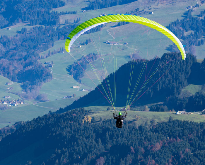 Hangglider Mountain Nature One Man Only One Person Outdoors Scenics Switzerland