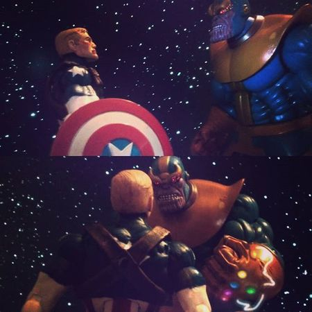 """Cap """"In the end,no matter what happens,people like you,never get a happy ending"""" Thanos""""i'm gonna enjoy making you watch as i kill your friends one by one before your eyes"""" Marvellegends Thanos Infiniteseries Infinitywar Infinitygaunlet Madtitan Marvelselect Nerd Comics Figurelife Disney Mcu Captainamerica Marvel Steverodgers Collector Marvelfigures Marvelentertainment Manchild Articulatedcomicbook Cap Avengers Collection Figures Actionfigures figurecollection TheAvengers hasbro actionfigurephotography acba"""