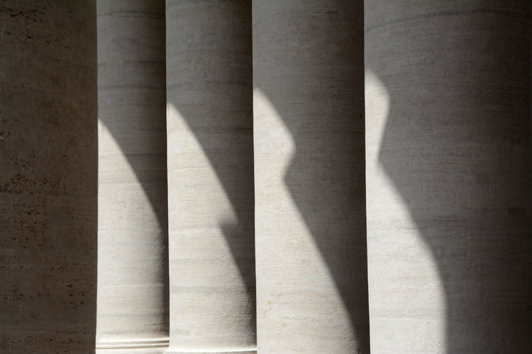 Sunlight on colonnade