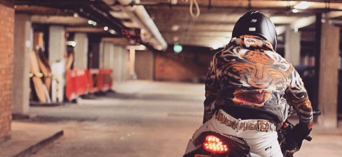 R6  Biker Tiger Rider Chelsea London Motorcycle Motorbike Versace Fashion