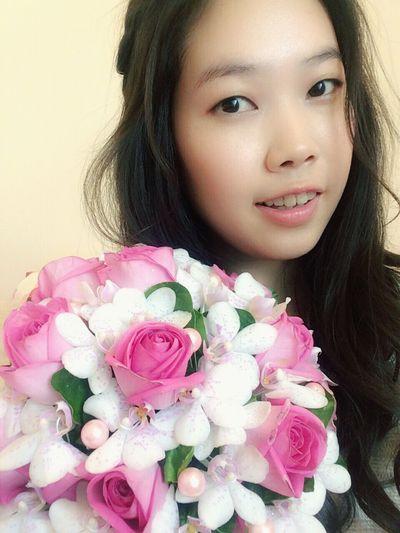 親愛的⋯謝謝你的捧花!Love you❤