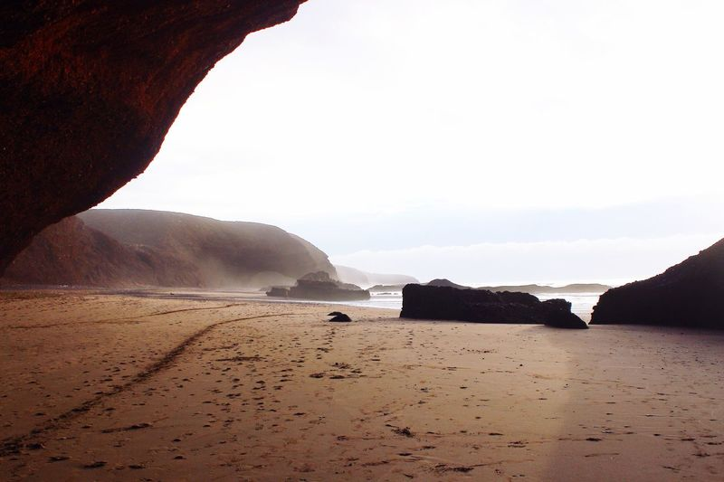 Legzira Beach is a bit mysterious place. Amazing forms. Martian colors. 👽 Amazing Morocco Legzira Nature Traveling Travel Plage Beautiful Beach Hanging Out