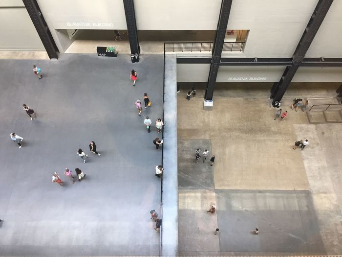 Tate Modern Gallery Photography Art Group Of People High Angle View Real People Architecture Large Group Of People Crowd Men Built Structure Women Indoors