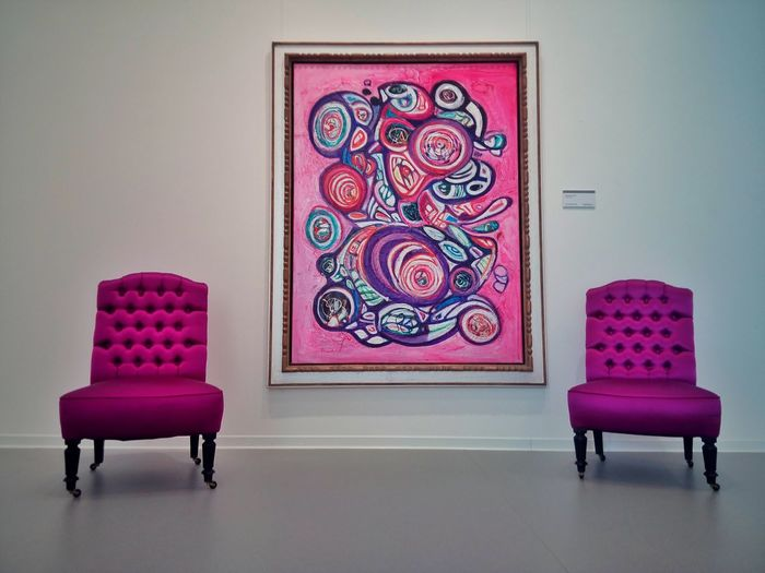 The Art! Art Danubiana Purple Pink Composition
