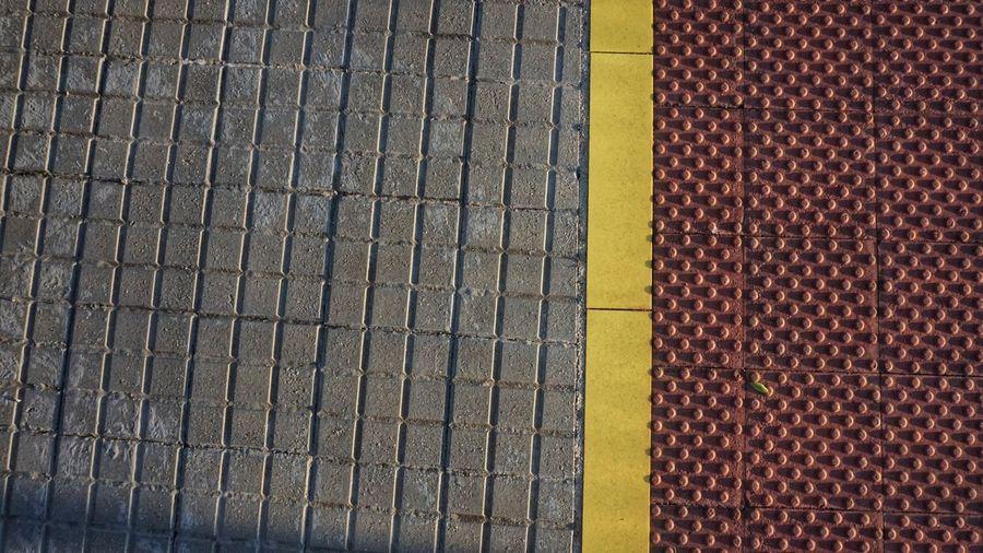 Full frame shot of street tiles